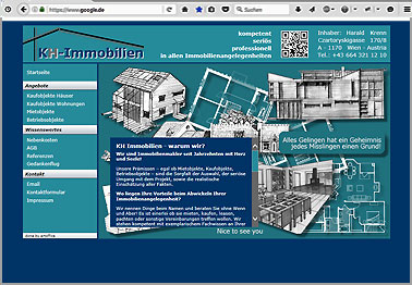 Webseite http://kh-immobilien.at