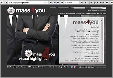 Webseite http://mass4you.at
